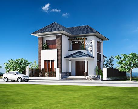 thiết kế biệt thự 2 tầng tại Nam Định