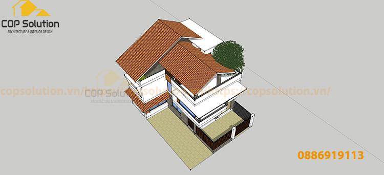 biệt thự kiến trúc tân cổ