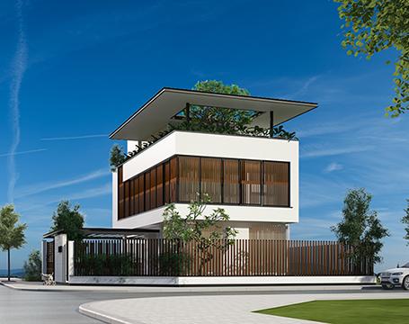 thiết kế biệt thự có bể bơi hiện đại