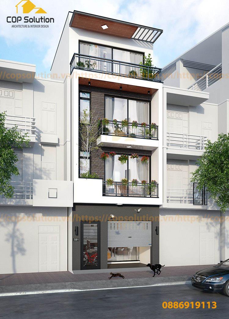 Mẫu nhà phố 3 tầng tại Hà Đông