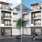 Thiết kế nhà phố 3 tầng tại Hà Đông