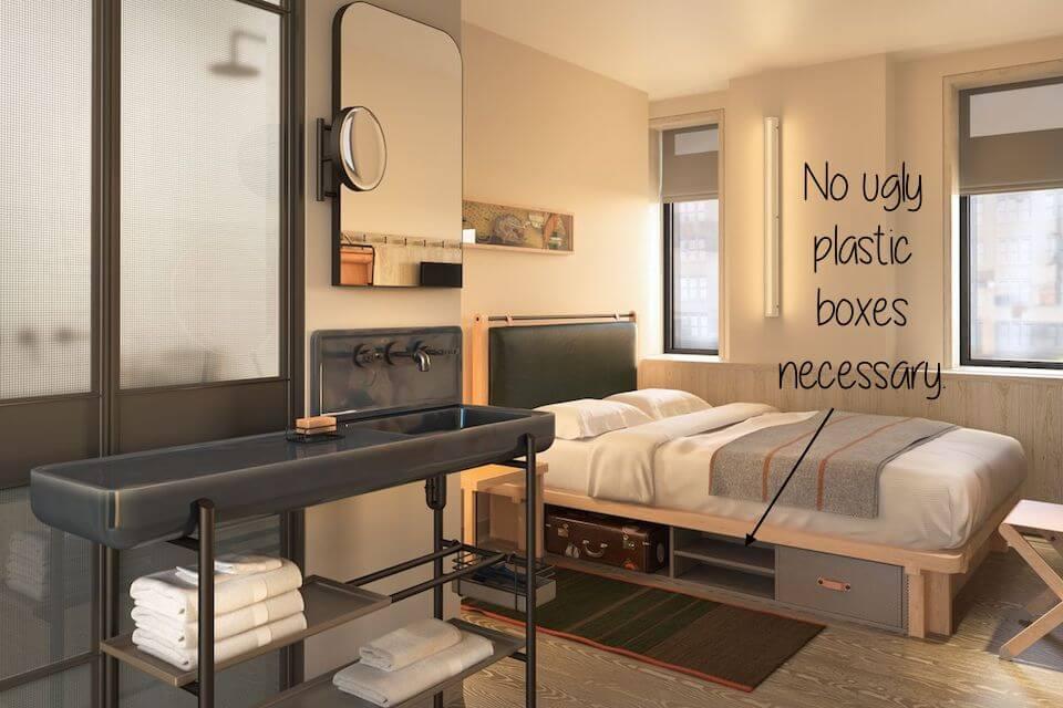 thiết kế giường linh hoạt