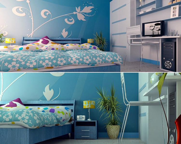 thiết kế phòng ngủ xanh