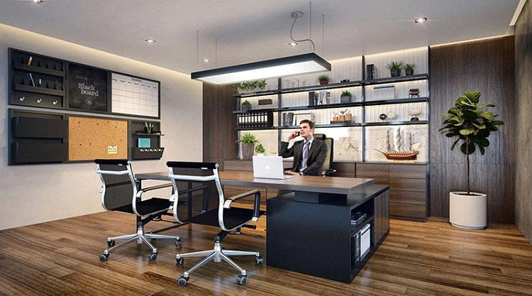 Thiết kế nội thất phòng giám đốc nhỏ