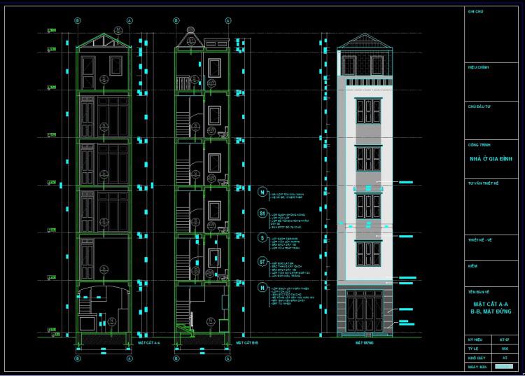 bản vẽ kiến trúc cột nhà