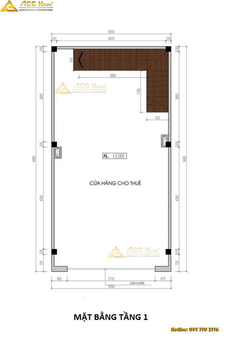 bản vẽ nhà 5 tầng