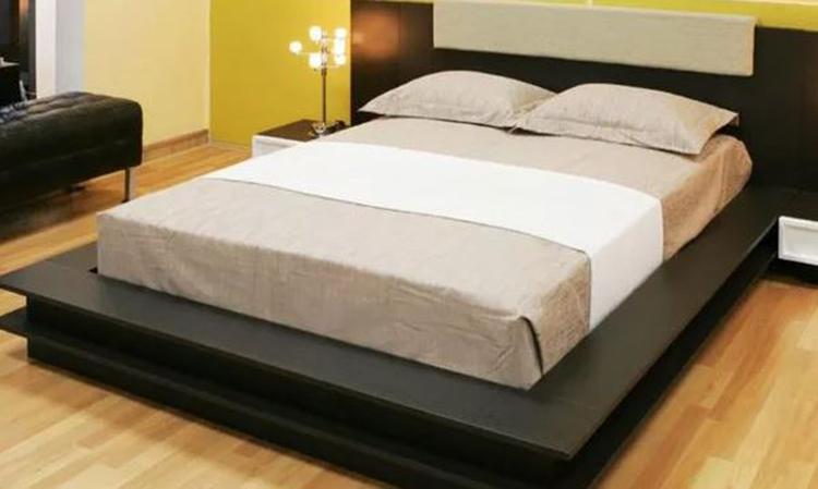 giường gỗ black HDF
