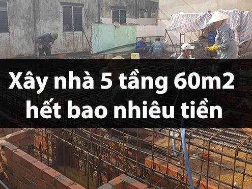 Xây nhà 5 tầng hết bao nhiêu tiền