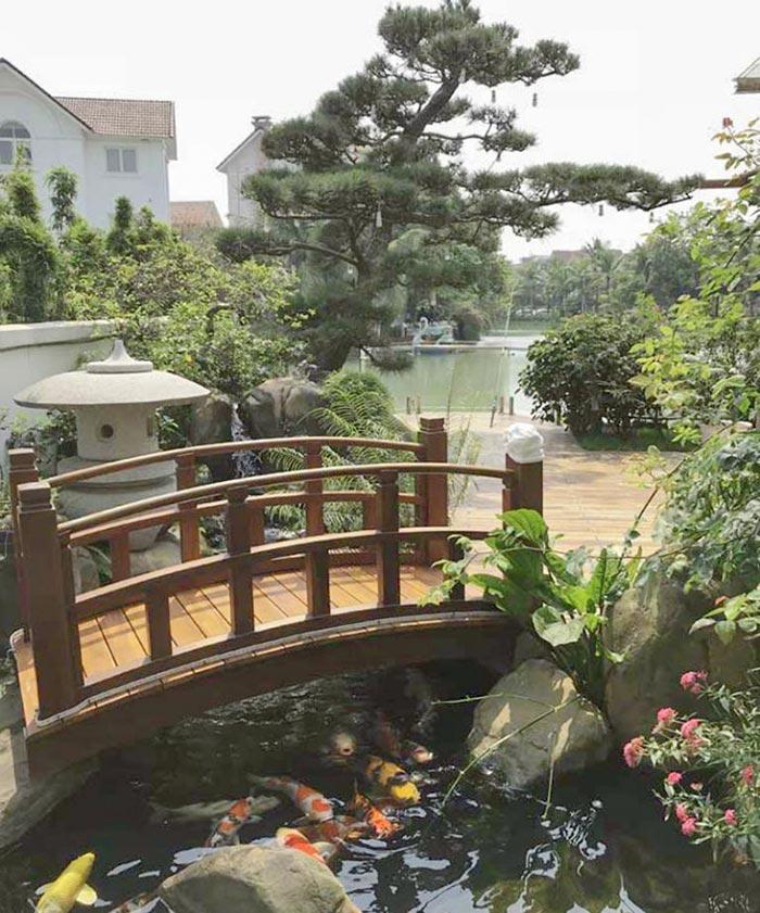 cầu vườn thiền
